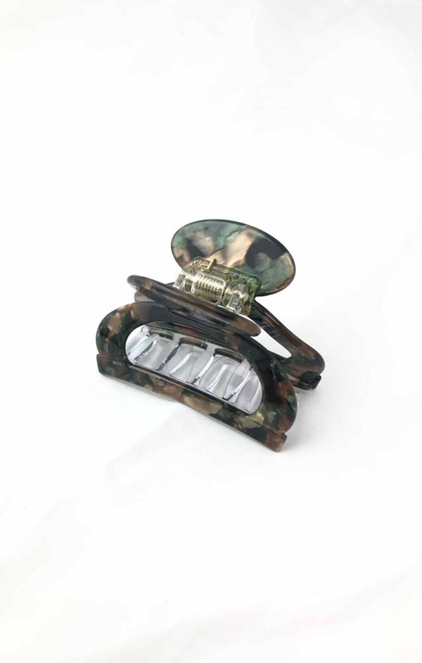 Cutout Acetate Hair Clip - Camo ShopatGrace.com