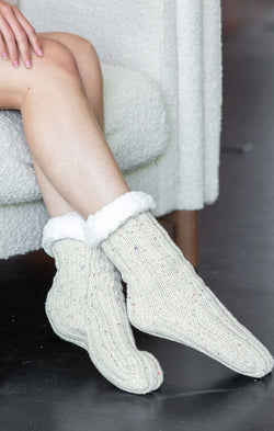 Oh So Cozy! Knit Slipper Socks -  ShopatGrace.com