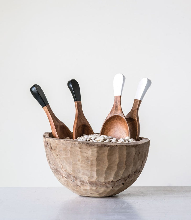 Hand-Carved Wood Salad Servers -  ShopatGrace.com