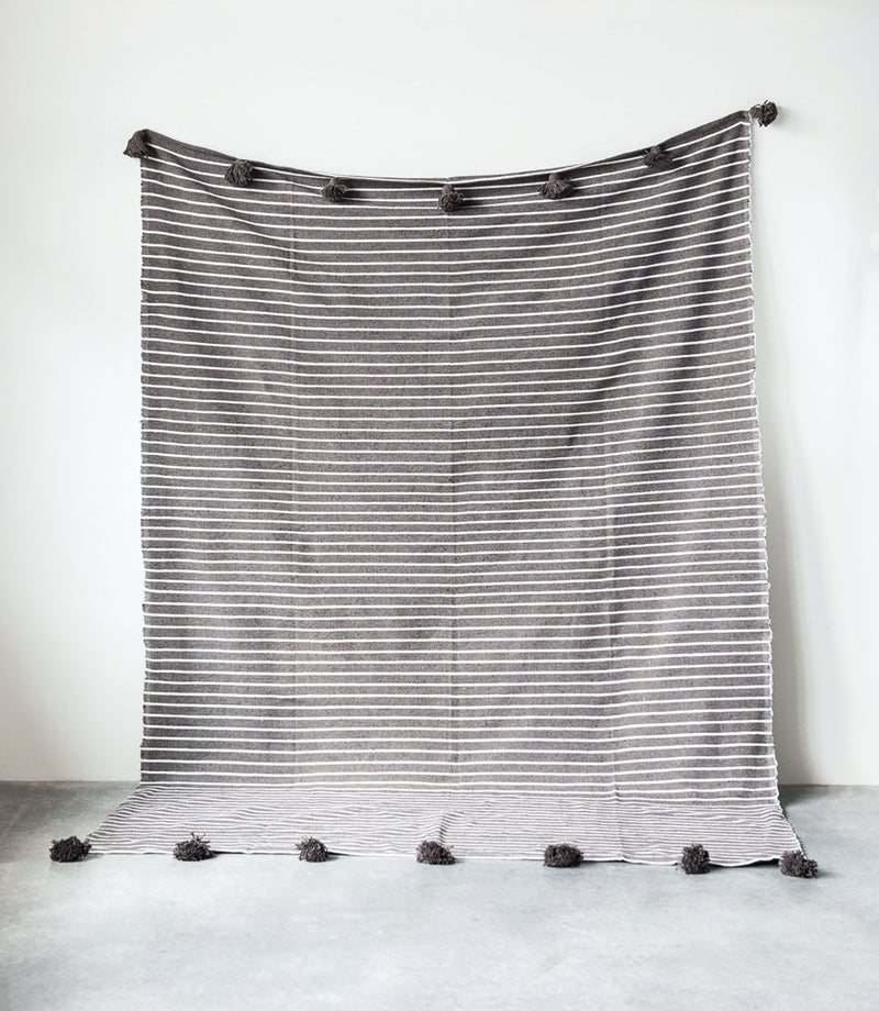 Cotton Striped Bed Cover -  ShopatGrace.com