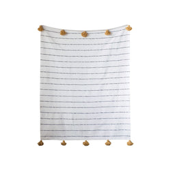 Cotton Striped Throw -  ShopatGrace.com