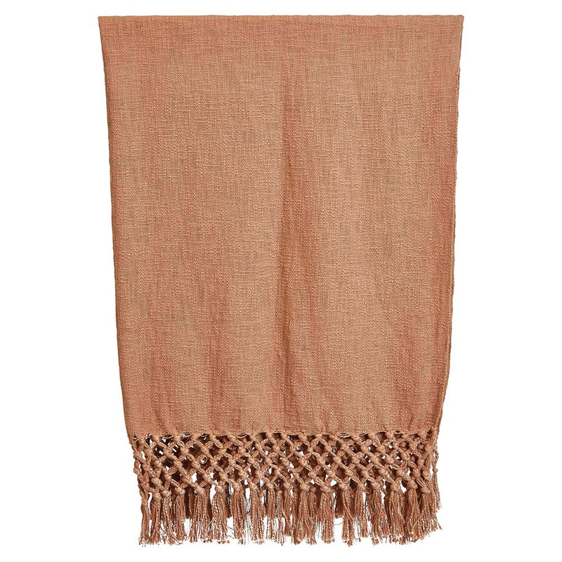 Woven Cotton Throw w/ Crochet Fringe -  ShopatGrace.com