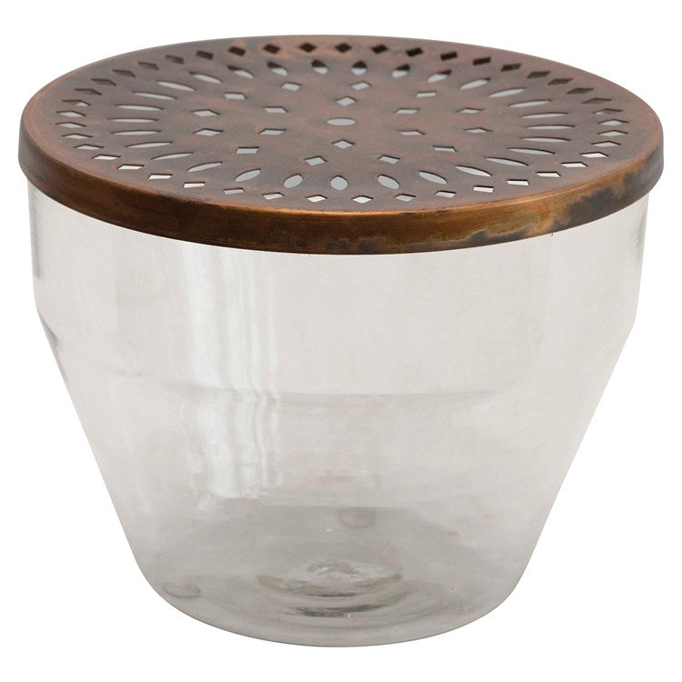 Glass Container w/ Metal Frog Lid -  ShopatGrace.com