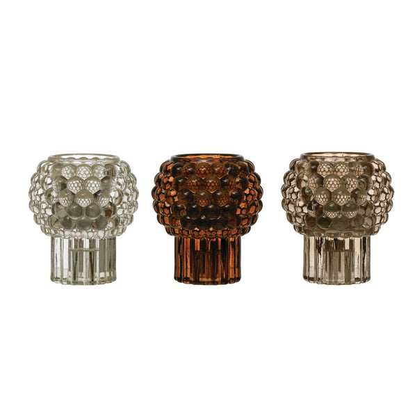 Glass Hobnail Tealight/Taper Holder -  ShopatGrace.com