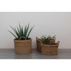 Oval Hand-Woven Seagrass Baskets -  ShopatGrace.com