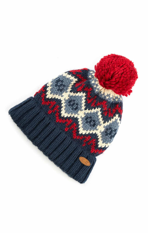 Fairisle Hat - NAVY / OS ShopatGrace.com