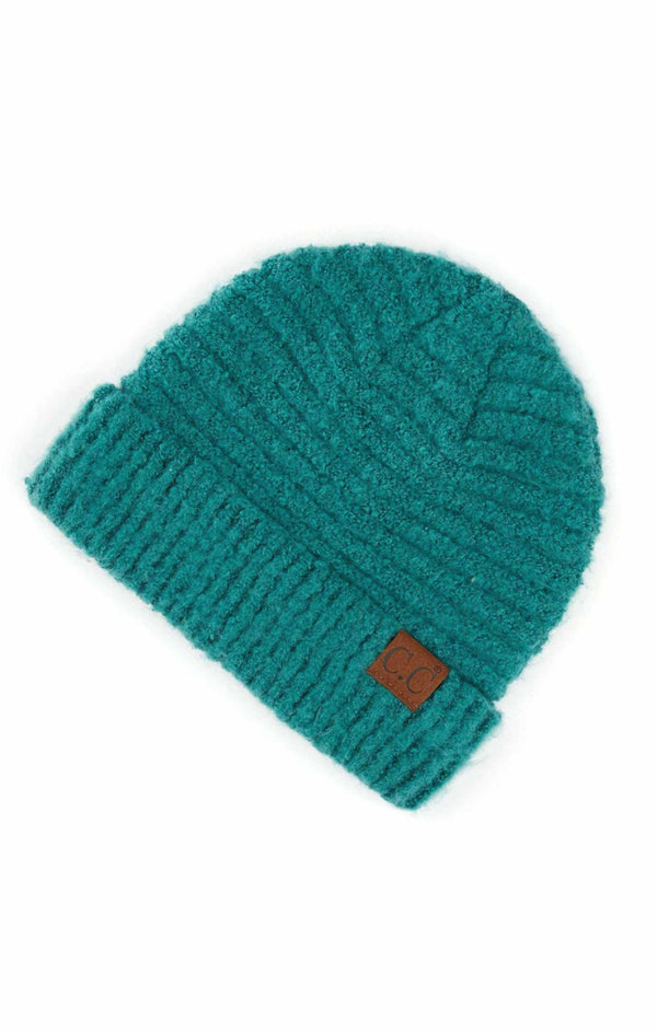 Boucle Beanie Hat - FOREST GREEN / OS ShopatGrace.com