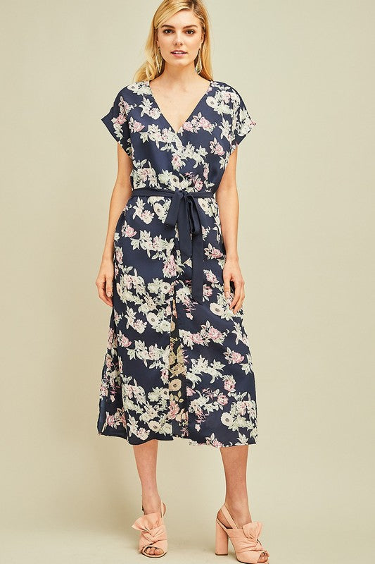 Floral Print Convertible Dress