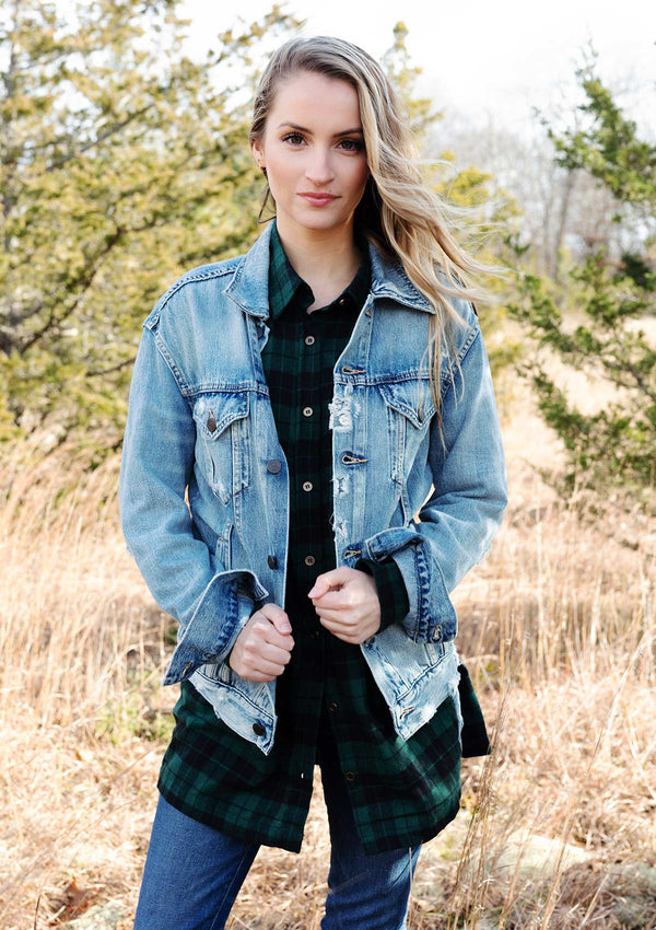 Able Distressed Denim Jacket - MERLY / XS ShopatGrace.com