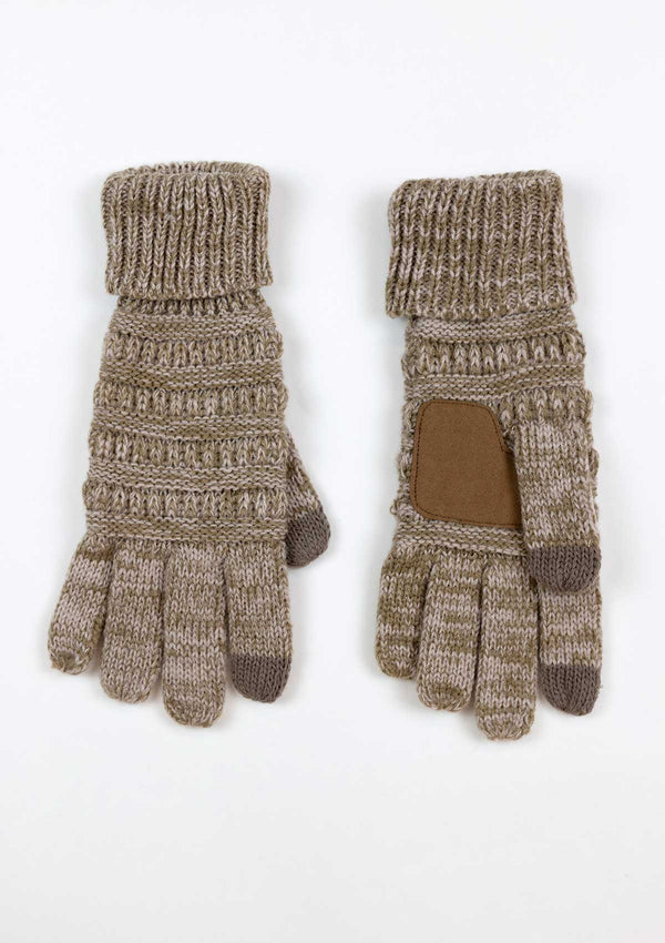 Smart Touch Two Tone Knit Gloves