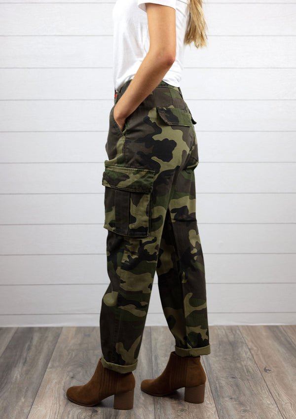 Camo Pants with Cargo Pockets