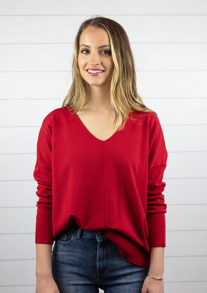 Favorite Cozy Sweater - RED / S/M ShopatGrace.com