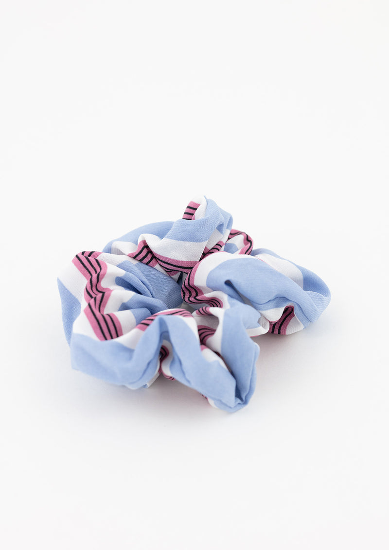 Two-Tone Stripe Scrunchie