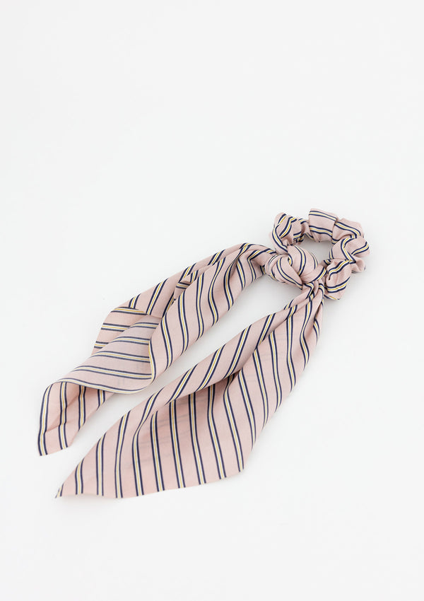 Silky Stripe Longtail Scrunchie