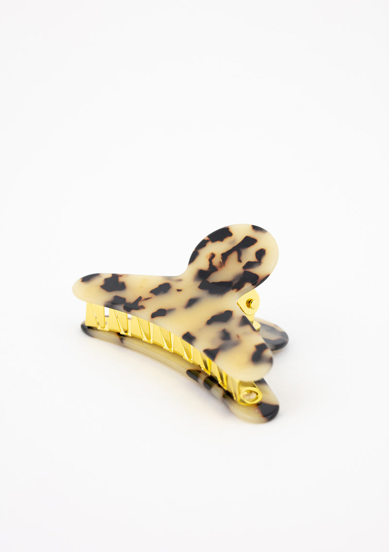 Tortoise & Gold Jaw Hair Clip