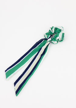 Nautical Stripe Longtail Scrunchie