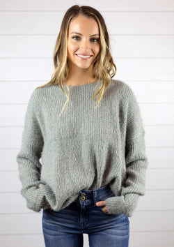 Super Soft Cozy Mohair Knot Sweater