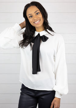 Long Bishop Sleeve Blouse