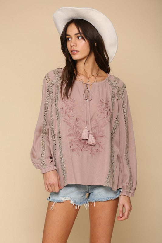 Embroidered Tunic Top -  ShopatGrace.com
