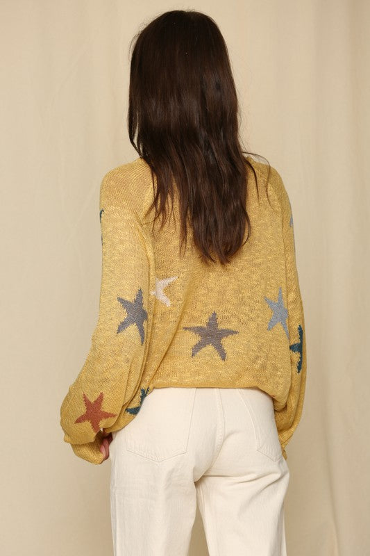 Loose Knit Star Pullover -  ShopatGrace.com