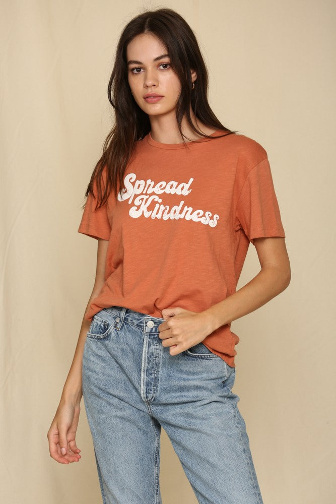 Spread Kindness T-shirt - S / Camel ShopatGrace.com