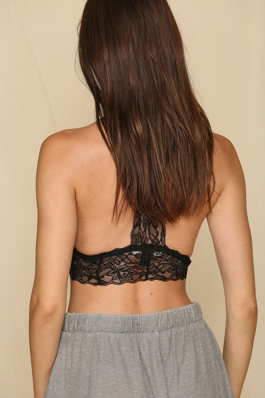 Lace V Neck T Bar Bralette -  ShopatGrace.com