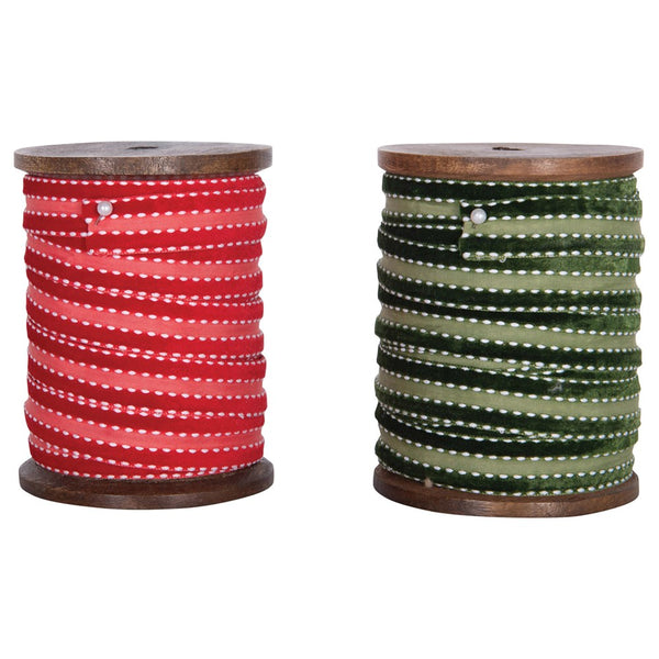 5 Yard Ribbon on Wood Spool -  ShopatGrace.com