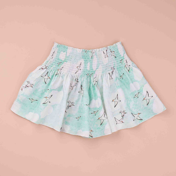 Seagulls Linen Ruched Short