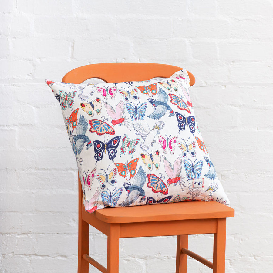 Cockatoo Calling Cushion