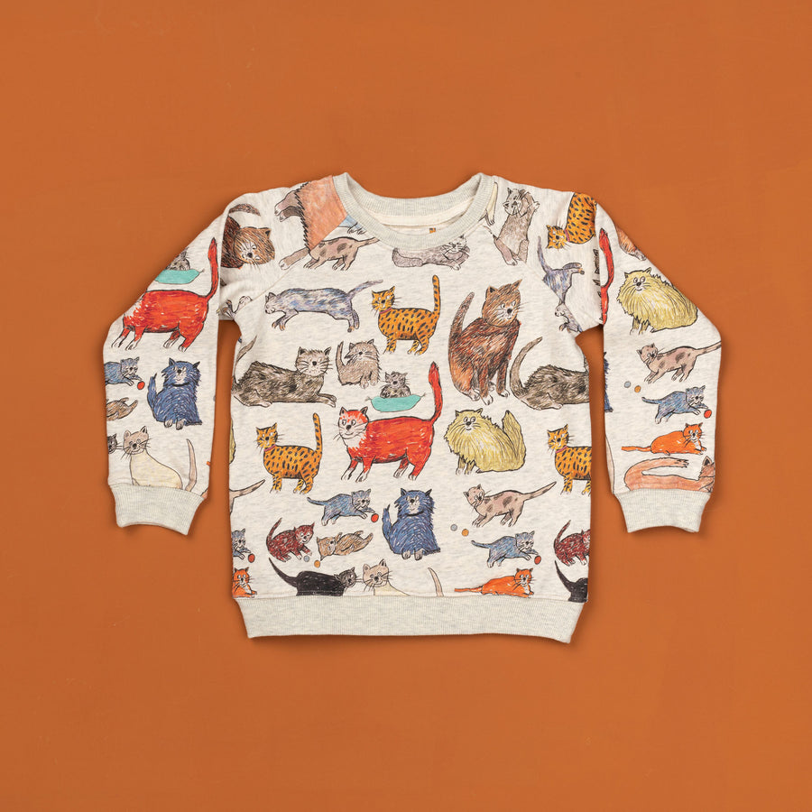 Kooky Cats Oatmeal Sweater