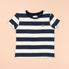 Dougal Basics Navy & White Stripe Tee