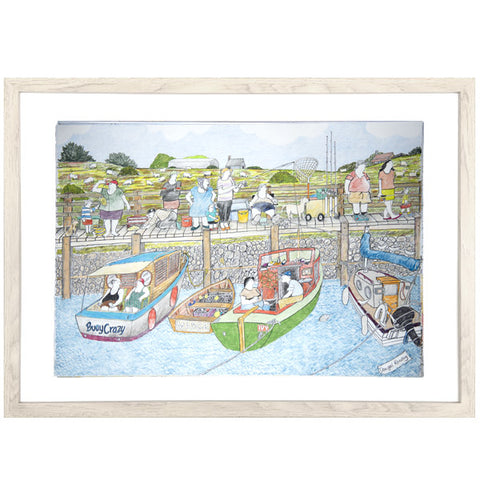 "Dougal Ramsay Print - ""Boating and Fishing"""