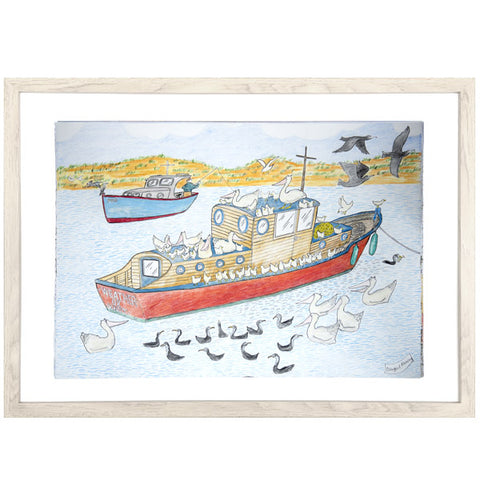 "Dougal Ramsay Print - ""A slow day on Swan Bay"""