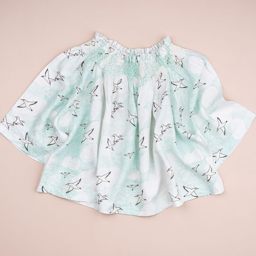 Ladies Seagulls Smocked Top
