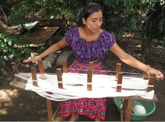 Weaving on a Backstrap Loom In Guatemala The Fox and the Mermaid