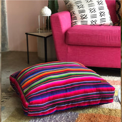 serape dog bed and floor cushion