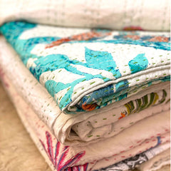 block printed quilts from india