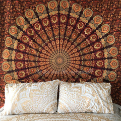 Earthy Brown Mandala Tapestry The Fox and the Mermaid