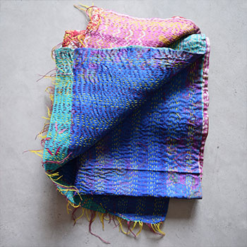 Kantha scarf and throw