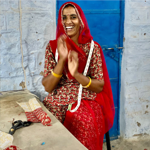 Leela, one of the saheli women