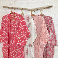 Block Printed Robes and Kimonos The Fox and the Mermaid