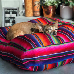 Serape Dog bed The Fox and the mermaid