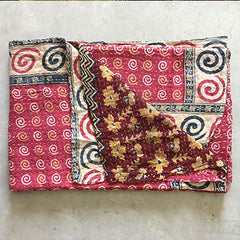 kantha quilt and throw