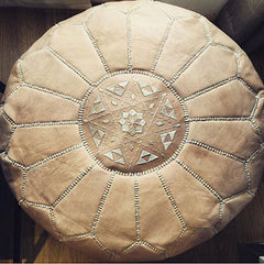 Leather Moroccan Pouf The Fox and the Mermaid