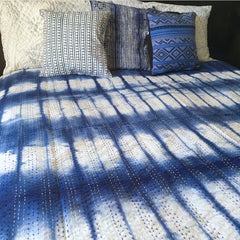 Shibori Kantha Quilt The Fox and the Mermaid