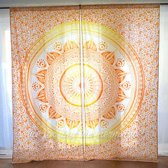 Mandala Tapestry Curtains The Fox and the Mermaid