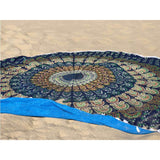 round mandala towel The Fox and the Mermaid
