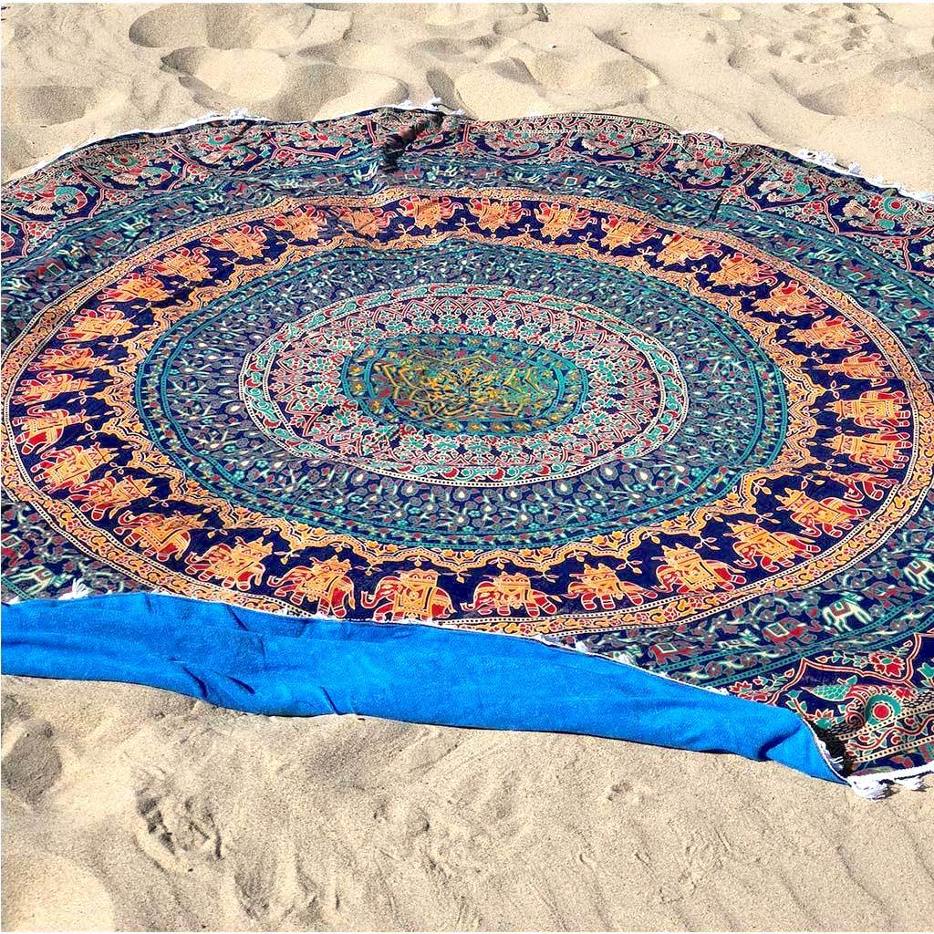 Jaipur Round Beach Towel - The Fox and The Mermaid