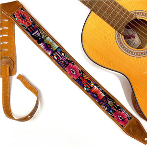Mayan Faja Belt  Guitar Strap - The Fox and the Mermaid