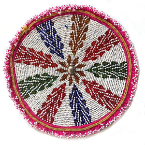 Beaded Round Tribal Patch The Fox and the Mermaid